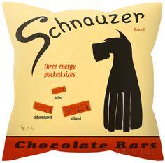 Schnauzer Chocolate Bars Pillow Throw Pillow 18x18   eBay