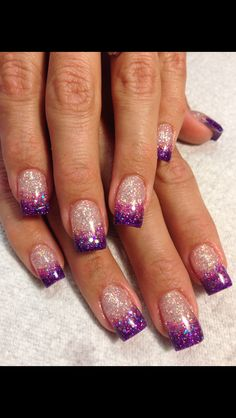 Amazing Winter Nail Art Designs 2018 Ideas 33 – home acssesories Sparkle Nails, Fancy Nails, Trendy Nails, Diy Nails, Winter Nail Art, Winter Nails, Spring Nails, Summer Nails, Nail Tip Designs