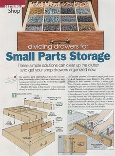 Drawers Small Parts Storage System - Workshop Solutions