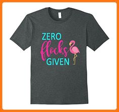 Funny Zero Flocks Given Pink Flamingo Shirt Summer Beach Herren, Größe M Dark Heather (*Partner Link)