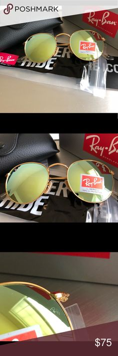 7c6ed9671f RAY-BAN RB3447 ROUND METAL Frame Color  112 P9 Matte Gold Lens Color