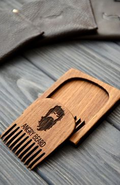 Personalized Beard comb Custom engraved Wooden by EnjoyTheWood
