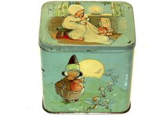 English Dutch Mabel Lucie Attwell Golly Black Boy Patria Biscuit Tin 1920s | eBay, $249.00