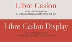 Fuentes gratuitas: Libre Caslon