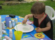 pottery-painting at our #childfriendly #holiday #accommodation in #charentemaritime #France