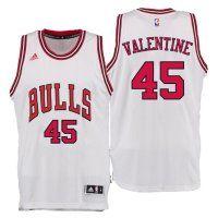 2016 Draft Bulls #45 Denzel Valentine Home White Swingman Jersey