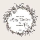 Vintage Christmas Wreath Greeting Card - Download From Over 50 Million High Quality Stock Photos, Images, Vectors. Sign up for FREE today. Image: 46639399