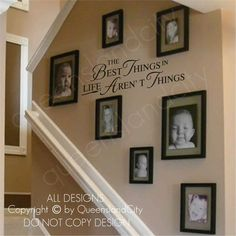 Looking for something interesting for our staircase...like this!