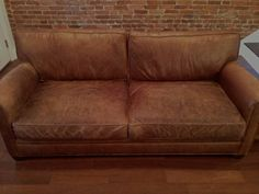 pottery barn mitchell gold leather couch - Google Search