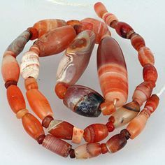 ancient carnelian agate sardonyx beads sardonyx August birthstone