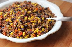 Quinoa & Black Bean Salad-a new staple at our house!  Delish, makes a ton, healthy and cheap! #quinoa