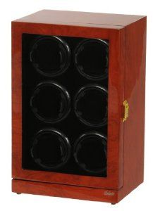 Six Watch Winder Mahogany Wood w/LCD Dispaly Belocia. $299.95. 5 timer settings 650, 900, 1200, 1500 and 1800 TPD (Turn Per Day).. Six turntables each one can be set to different settings. Mahogany color piano finish with multi layers of polyurethane.. Rotates clockwise, counter-clockwise or alternate.. Save 25%!