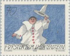 Sello: Clown (Liechtenstein) (Clown) Mi:LI 1175,Yt:LI 1116,Zum:LI 1117