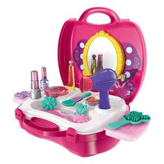 Cheap pretend play, Buy Quality kids play makeup directly from China girl pretend play Suppliers: 21 PCS Simulation Cosmetic Case Baby Kids Girls Makeup Tool Kit Box Play House Toy Pretend Play House Toy Simulation Briquedos Beauty Kit, Beauty Studio, Beauty Make Up, Little Girl Toys, Toys For Girls, Little Girls, Makeup Kit For Kids, Kids Makeup, Teenage Makeup