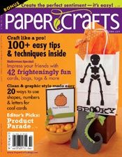 Paper Crafts September/October 2009 @PaperCraftsMag I think this Spooky Bag was my first cover project ever!
