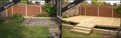 RB Building & Landscaping can design and fit a wide range of high quality timber and composite decking solutions in Sheffield. Composite Decking, Can Design, Pond, Patio, Landscape, Building, Garden, Outdoor Decor, Image