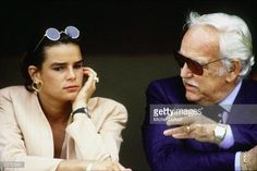 Prince Rainier III of Monaco with daughter Princess Stephanie at the Monaco Formula One Grand Prix on May 27, 1990 in Monte Carlo, Monaco. (Photo by Michel Dufour/WireImage)