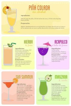 Coktails no alcohol Non Alcoholic Drinks, Bar Drinks, Cocktail Drinks, Beverages, Alcohol Drink Recipes, Summer Drinks, Mixed Drinks, Just In Case, Food And Drink