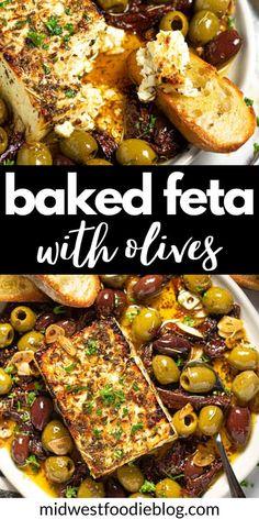 Greek Recipes, Veggie Recipes, Vegetarian Recipes, Cooking Recipes, Healthy Recipes, Recipes With Feta Cheese, Vegetarian Barbecue, Oven Recipes, Vegetarian Cooking