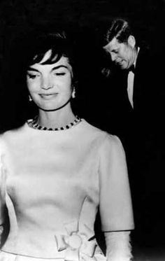 President Kennedy, and his First Lady Jacqueline Kennedy, attending inaugural gala, January 20, 1961.