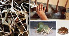 15 kreatívnych nápadov ako využiť vešiaky inak. Tieto praktické a originálne riešenia by ste rozhodne prehliadnuť nemali! Dizajn, štýl, staré vešiaky, upcyklácia, nápady do domácnosti