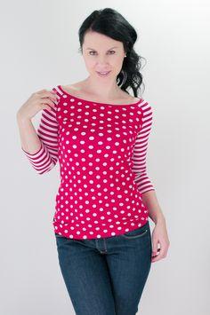 Li-La tričko Hravé ... Polka Dot Top, Tops, Women, Fashion, Polka Dot Shirt, Moda, Women's, La Mode, Shell Tops