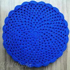 Sousplat de Crochê Azul Royal