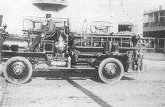 First motorized fire truck in Chippewa Falls