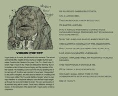 Hitchhikers Guide to the Galaxy - Vogon Poetry