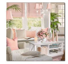 A home decor collage from March 2018 featuring book-shelf, led candles and flower stem. Decor, Pink Room, Living Room Decor, Home, Beach Decor Living Room, Grey Walls, Glass Kitchen Cabinet Doors, Formal Living Room Decor, Room