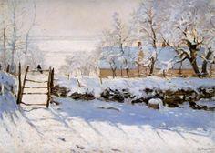 """Claude Monet ~   """"The Magpie"""", 1869"""