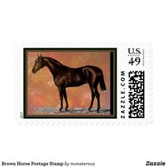 Brown Horse Postage Stamp #Horse #Animal #Stamp #Postage #Mail #Envelope