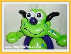 Little Green Balloon Monster