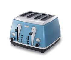 Is it possible to make toast sexy by making it in this toaster? Or should we have kept that thought to ourselves? This piece of toasting kit from DeLonghi is way too cool for our worktop!