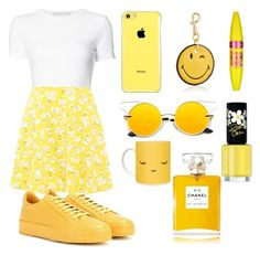 """""""Amarelo"""" by thais-santana-1 ❤ liked on Polyvore featuring Rosetta Getty, Jil Sander, Casetify, Anya Hindmarch, Maybelline, Rimmel and Chanel"""