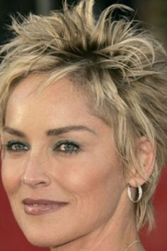 Pictures : Sharon Stone Hairstyles – Sharon Stone's Short Shag …