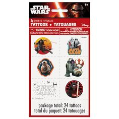 Star Wars Tattoos | Star Wars Party Supplies and Party Favors