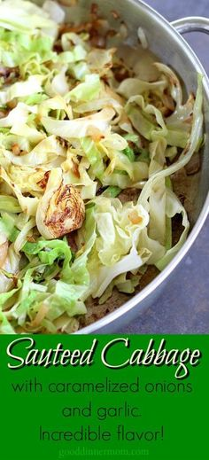Never boil your cabbage again! Sauteed cabbage is so delicious and couldn't be easier. Never boil your cabbage again! Sauteed cabbage is so delicious and couldn't be easier. Side Dish Recipes, Veggie Recipes, Vegetarian Recipes, Dinner Recipes, Cooking Recipes, Healthy Recipes, Vegetarian Cabbage Recipes, Cooked Cabbage Recipes, Chickpeas