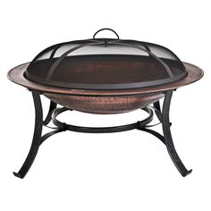 Cast Iron Fire Pit - Copper Finish