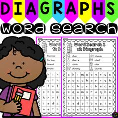 Diagraph Word Search Puzzles. This product includes 8 word search puzzles for the consonant diagraph sounds (sh, ch, th, wh and ck). The diagraph word search puzzles included in this pack are; Word Search 1- Beginning sh diagraph words. Word Search 2- Ending sh diagraph words.