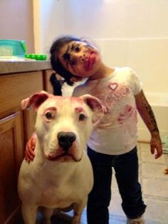 """Pittie """"makeover"""" hahaha!!                                                                                                                                                                                 More"""