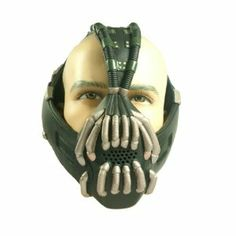 Bane Costume Bane Mask with Voice Changer, Bronze-coloured, New Version Christmas Gift xcoser Bane Costume, Bane Cosplay, Bane Mask, Batman Gifts, Geek Gadgets, The Dark Knight Rises, Novelty Gifts, Custom Paint, Gotham