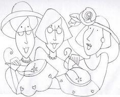 les trois amies …
