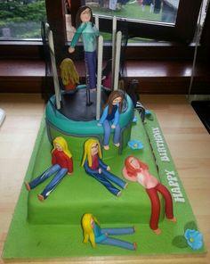 Trampoline themed cake