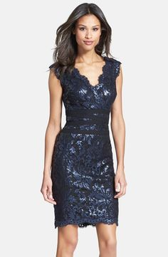 Mother of the Bride Dress? Available at Nordstroms - Tadashi Shoji Sequin Lace Sheath Dress (Regular & Petite)