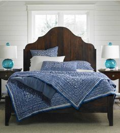 I am in love with this headboard. And to learn how to make a bed, that is amazing! I may tackle this project on my own!