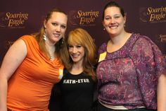Me and my sis meeting Kathy Griffin!!  What an awesome lady!