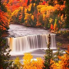 Waterfall in autumn. I miss the Pennsylvania countryside, but not the rest.
