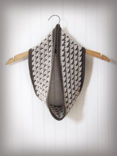 Crossover Cowl and Ear Warmer CROCHET PATTERN instant by Bowtykes, $3.00