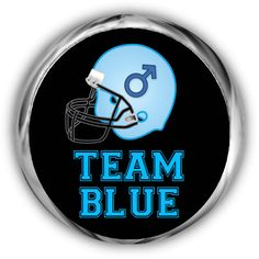 Team Blue Baby Shower Stickers  Personalized Gender Reveal Labels by AnnounceItFavors
